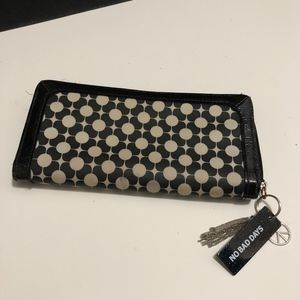 Black and White, Zipper and Snap Wallet